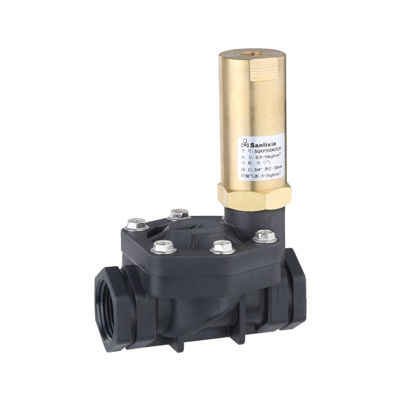 SQKP plastic series 2/2-way pilot operate air operated valve Normally Open